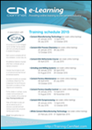 Cement Training Schedule 2015