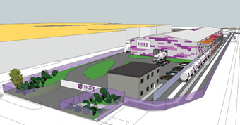 Diagram of Hope's new sate-of-the-art depot in East London