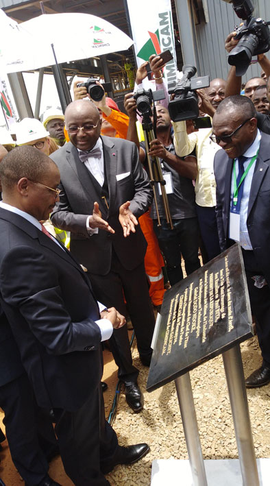 President Paul Biya of Cameroon inaugurates the Nomayos grinding plant