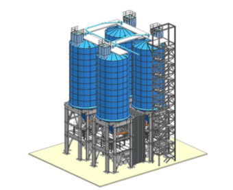 Intercem Engineering steel silo unit