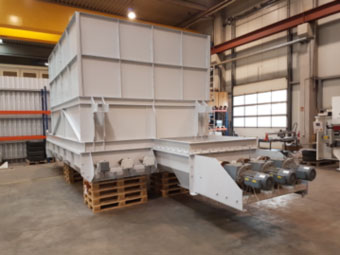 Intercem secondary fuel dosing unit for German cement plant