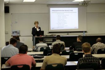 Prof. Dubravka Bjegovic (IGH, University Zagreb) lecturing during the pre-conference courses at the Witwatersrand University