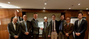 Representatives from SeaInvest/Seatech, Cimaf and Intercem after contract agreement in Feb 2018