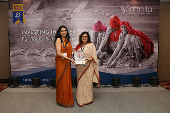 From Right to Left - Ambuja Cement Foundation Head Pearl Tiwari and Samhita Founder Priya Naik unveil 'Making The Case For Corporate Action in Water' report